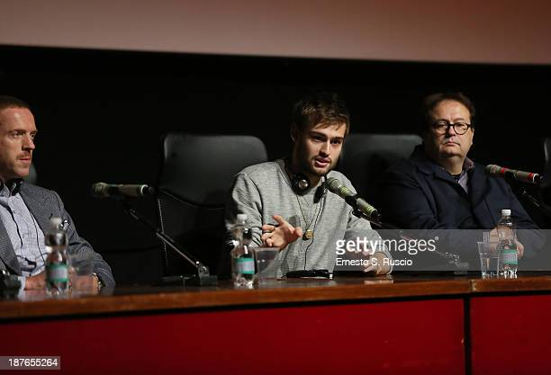 Actors Damian Lewis Douglas Booth and director Carlo Carlei speak at the 'Romeo And Juliet' Press Conference during the 8th Rome Film Festival at the...