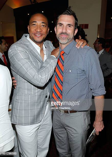 Actors Damon Gupton and Paul Schneider attend 'The Divide' series premiere after party at Circo on June 26 2014 in New York City