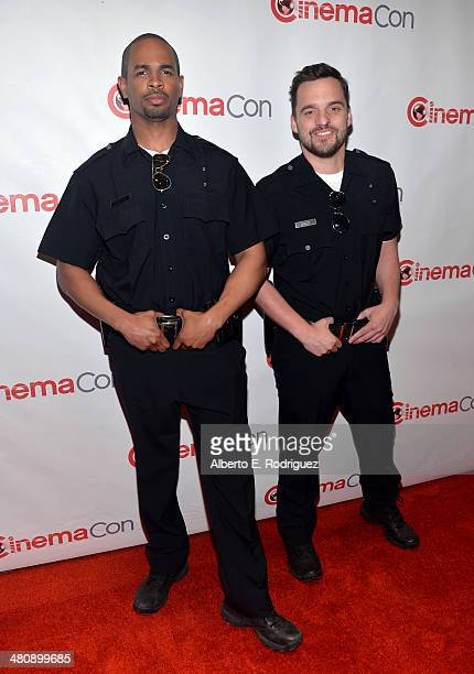 Actors Damon Wayans Jr and Jake Johnson attend 20th Century Fox's Special Presentation Highlighting Its Future Release Schedule during CinemaCon the...