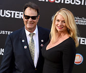 Actors Dan Aykroyd and Donna Dixon arrive at the premiere of Sony Pictures' 'Ghostbusters' at TCL Chinese Theatre on July 9 2016 in Hollywood...
