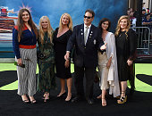 Actors Dan Aykroyd Donna Dixon and kids arrive at the premiere of Sony Pictures' 'Ghostbusters' at TCL Chinese Theatre on July 9 2016 in Hollywood...