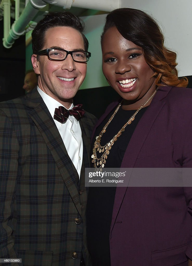 Actors Dan Bucatinsky and Alex Newell attend 'TrevorLIVE LA' Honoring Robert Greenblatt Yahoo and Skylar Kergil for The Trevor Project presented by...