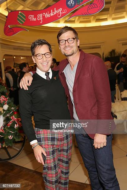 Actors Dan Bucatinsky and Bailey Chase attend Brooks Brothers holiday celebration with St Jude Children's Research Hospital on December 3 2016 in...