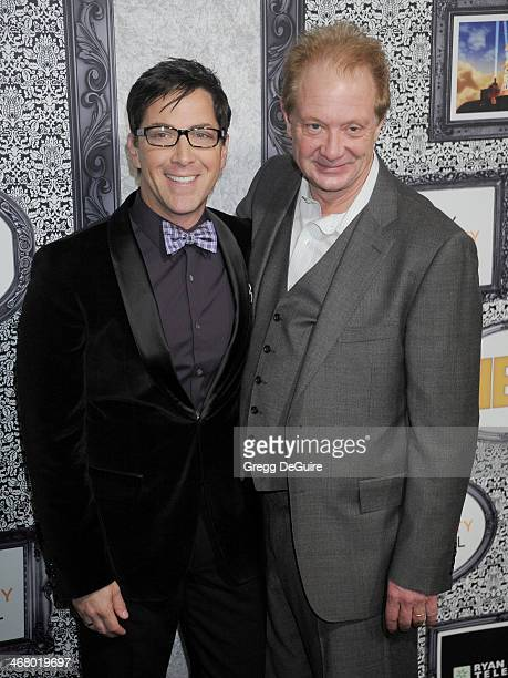 Actors Dan Bucatinsky and Jeff Perry arrive at the Family Equality Council's Annual Los Angeles Awards Dinner at The Globe Theatre on February 8 2014...