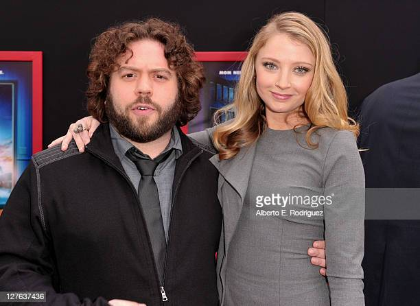 Actors Dan Fogler and Elisabeth Harnois arrive at the premiere of Walt Disney Pictures' 'Mars Needs Moms' held at the El Capitan Theatre on March 6...