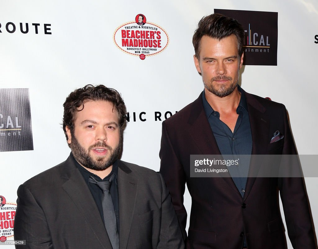 Actors Dan Fogler (L) and Josh Duhamel attend the premiere of Vertical Entertainment's 'Scenic Route' at the Chinese 6 Theaters Hollywood on August 20, 2013 in Hollywood, California.
