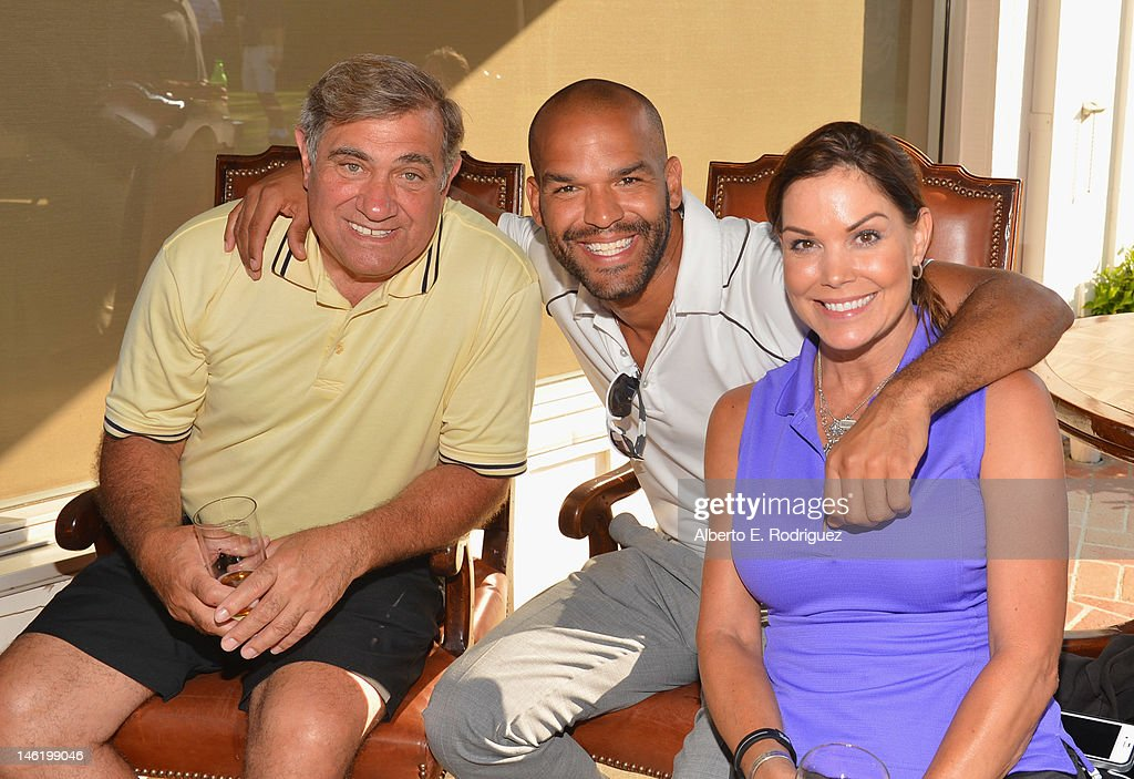 Actors Dan Lauria Amaury Nolasco and Paula Trickey attend the Screen Actors Guild Foundation's 3rd Annual LA Golf Classic at Lakeside Golf Club on...