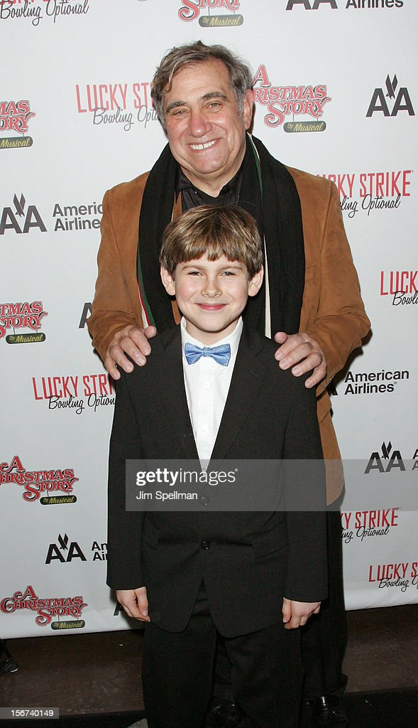 Actors <a gi-track='captionPersonalityLinkClicked' href=/galleries/search?phrase=Dan+Lauria&family=editorial&specificpeople=757077 ng-click='$event.stopPropagation()'>Dan Lauria</a> and Joe West attend 'A Christmas Story: The Musical' Broadway opening night after party on November 19, 2012 in New York City.