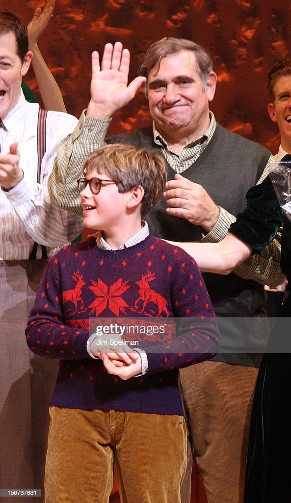 Actors <a gi-track='captionPersonalityLinkClicked' href=/galleries/search?phrase=Dan+Lauria&family=editorial&specificpeople=757077 ng-click='$event.stopPropagation()'>Dan Lauria</a> and Johnny Rabe attends the 'A Christmas Story: The Musical' Broadway Opening Night at Lunt-Fontanne Theatre on November 19, 2012 in New York City.