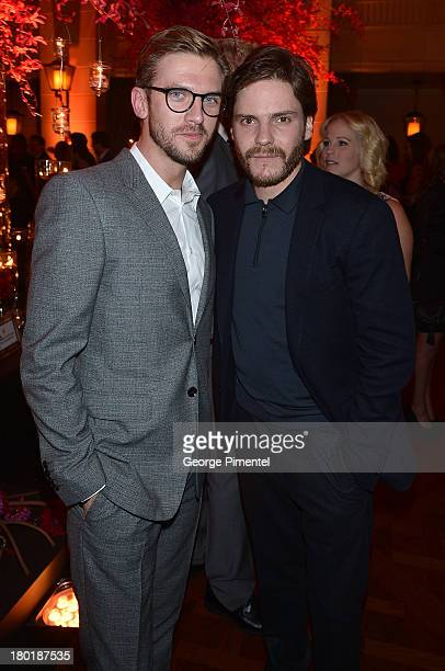Actors Dan Stevens and Daniel Bruhl attend InStyle and the Hollywood Foreign Press Association's Annual Toronto International Film Festival Party...
