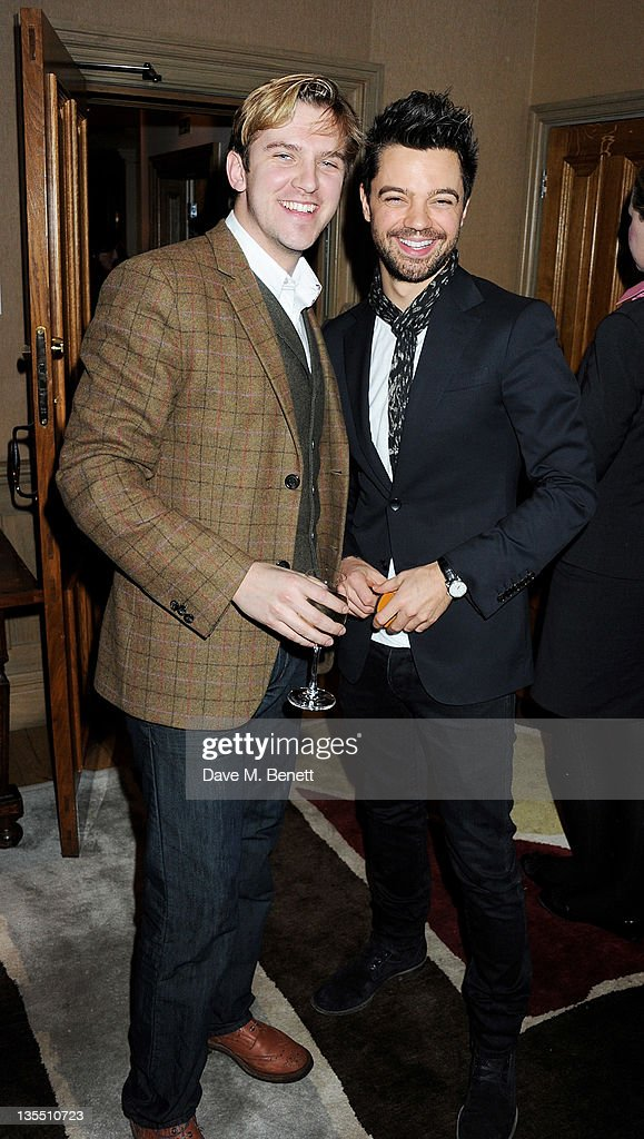 Actors Dan Stevens and Dominic Cooper attend a VIP Screening of 'The Artist' hosted by the Weinstein Company at Charlotte Street Hotel on December 11...
