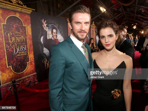 Actors Dan Stevens and Emma Watson arrive for the world premiere of Disney's liveaction 'Beauty and the Beast' at the El Capitan Theatre in Hollywood...