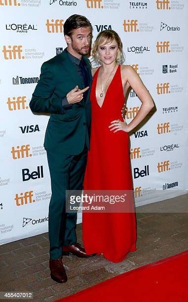Actors Dan Stevens and Maika Monroe attend 'The Guest' premiere during the 2014 Toronto International Film Festivalat Ryerson Theatre on September 13...