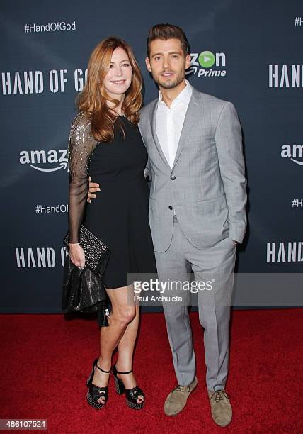 Actors Dana Delany and Julian Morris attend the premiere of Amazon's series 'Hand Of God' at Ace Theater Downtown LA on August 19 2015 in Los Angeles...