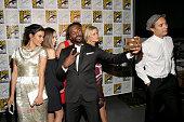 Actors Danay García Alycia Debnam Carey Colman Domingo Mercedes Masohn Kim Dickens and Frank Dillane attend AMC's 'Fear The Walking Dead' Panel...