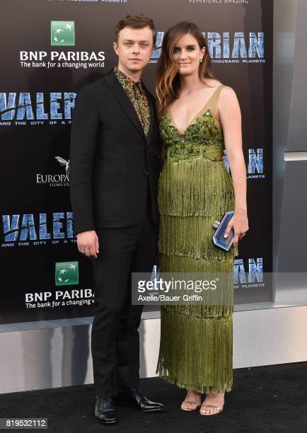 Actors Dane DeHaan and Anna Wood arrive at the Los Angeles premiere of 'Valerian and the City of a Thousand Planets' at TCL Chinese Theatre on July...