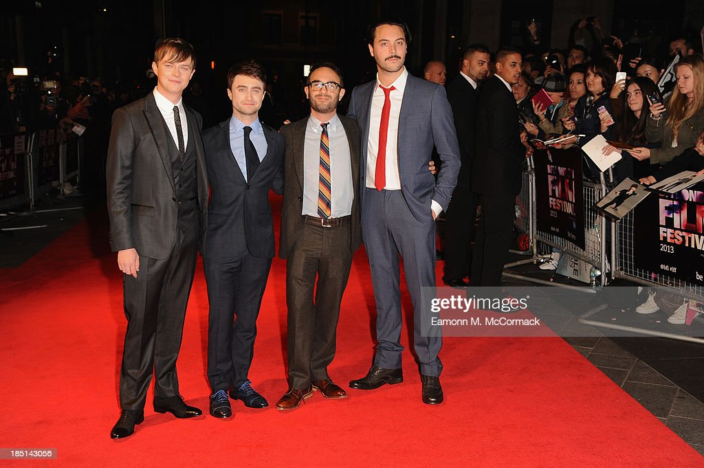 Actors <a gi-track='captionPersonalityLinkClicked' href=/galleries/search?phrase=Dane+DeHaan&family=editorial&specificpeople=6890481 ng-click='$event.stopPropagation()'>Dane DeHaan</a>, <a gi-track='captionPersonalityLinkClicked' href=/galleries/search?phrase=Daniel+Radcliffe&family=editorial&specificpeople=204144 ng-click='$event.stopPropagation()'>Daniel Radcliffe</a>, director <a gi-track='captionPersonalityLinkClicked' href=/galleries/search?phrase=John+Krokidas&family=editorial&specificpeople=10125419 ng-click='$event.stopPropagation()'>John Krokidas</a> and actor <a gi-track='captionPersonalityLinkClicked' href=/galleries/search?phrase=Jack+Huston&family=editorial&specificpeople=839493 ng-click='$event.stopPropagation()'>Jack Huston</a> attend a screening of 'Kill Your Darlings' during the 57th BFI London Film Festival at Odeon West End on October 17, 2013 in London, England.