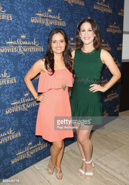 Actors Danica McKellar and Erin Krakow attend the premiere of Hallmark Movies Mysteries' 'Garage Sale Mystery' at The Paley Center for Media on...