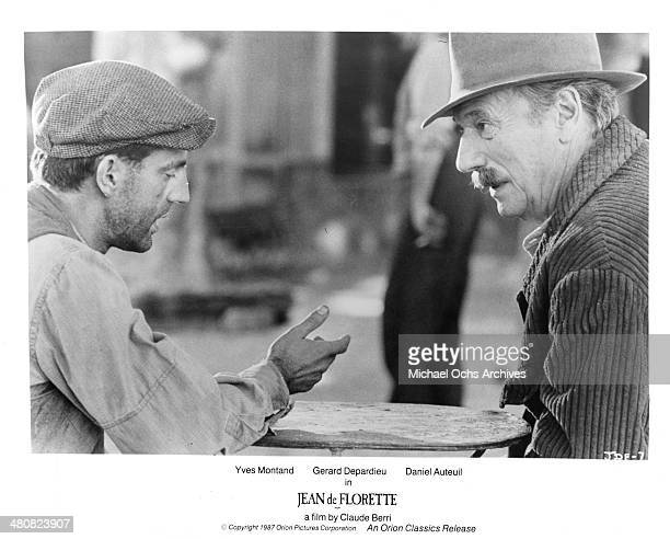 Actors Daniel Auteuil and Yves Montand in a scene from the movie 'Jean de Florette' circa 1986
