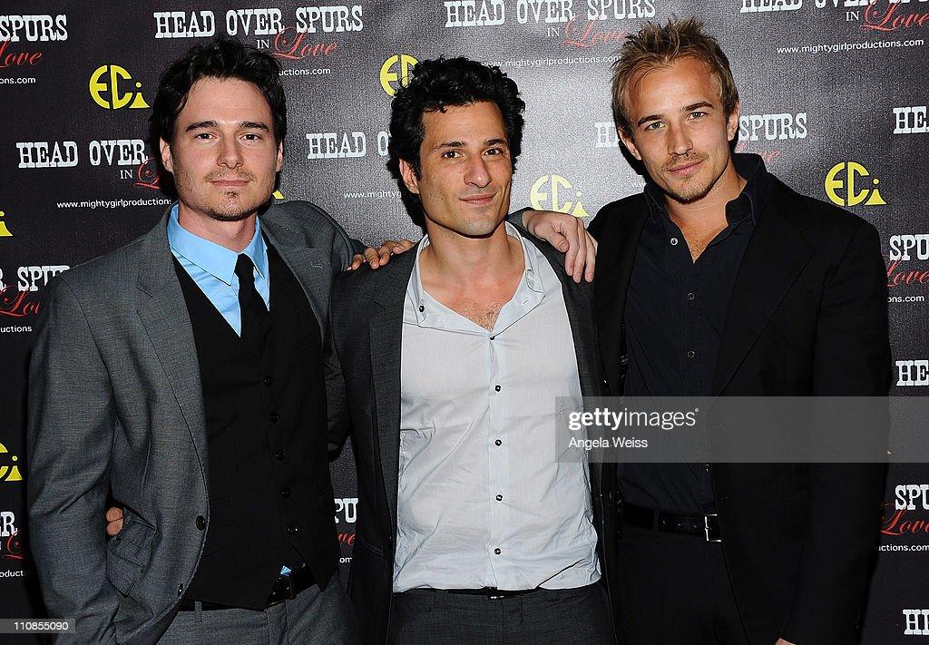 Actors daniel bonjour hal ozsan and jesse johnson arrive at the world