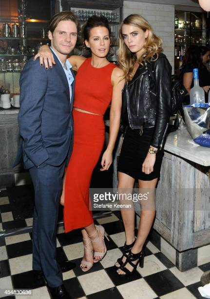Actors Daniel Bruhl Kate Beckinsale and Cara Delevingne at 'The Face of an Angel' world premiere party hosted by GREY GOOSE vodka and Soho House...