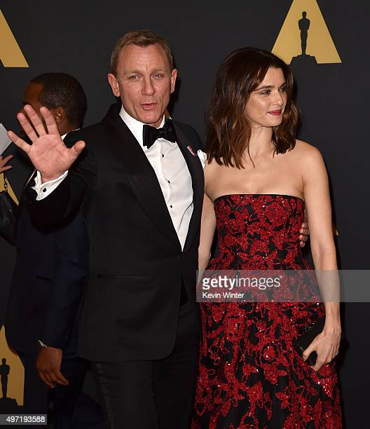 Actors Daniel Craig and Rachel Weisz attend the Academy of Motion Picture Arts and Sciences' 7th annual Governors Awards at The Ray Dolby Ballroom at...