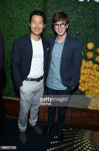 Actors Daniel Dae Kim and Freddie Highmore attend the Sony Pictures Television LA Screenings Party at Catch LA on May 24 2017 in Los Angeles...
