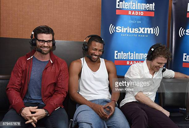 Actors Daniel Gillies Charles Michael Davis and Joseph Morgan attend SiriusXM's Entertainment Weekly Radio Channel Broadcasts From ComicCon 2016 at...