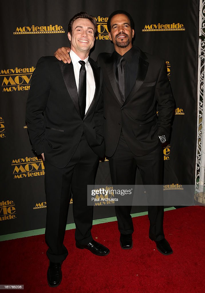 Actors Daniel Goddard (L) and Kristoff St. John (R) attend the 21st annual Movieguide Awards at Hilton Universal City on February 15, 2013 in Universal City, California.