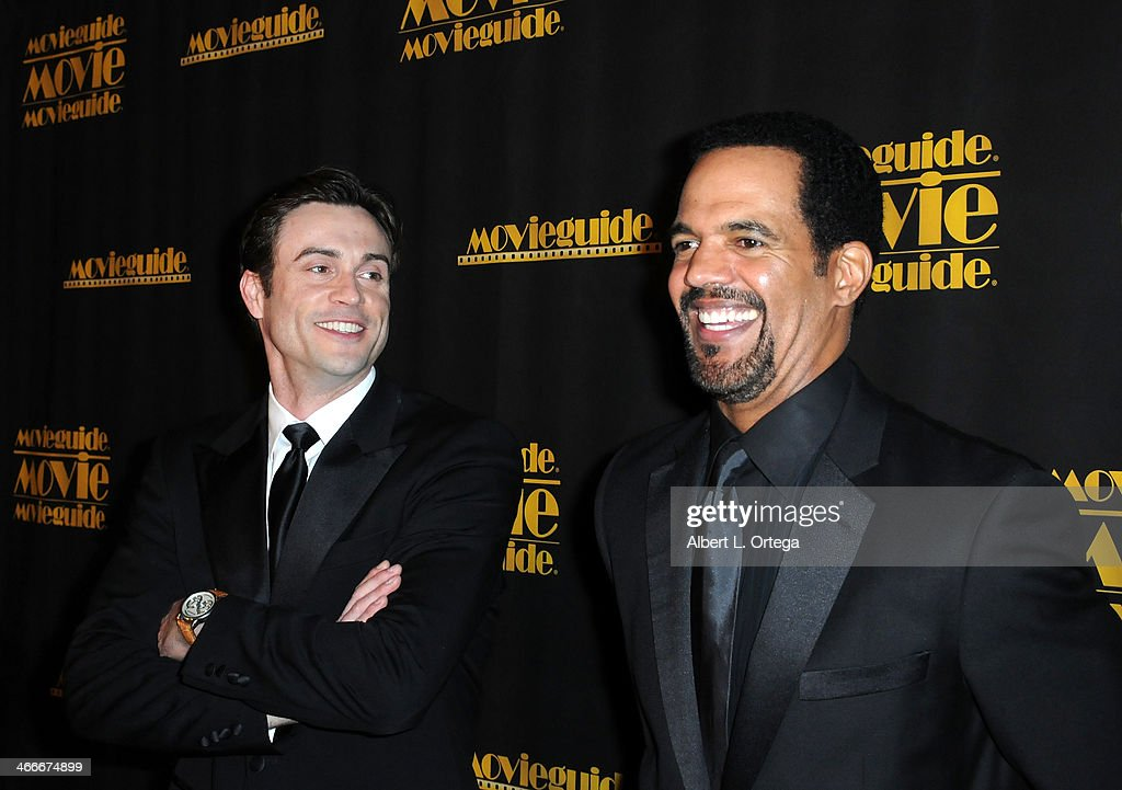 Actors Daniel Goddard and <a gi-track='captionPersonalityLinkClicked' href=/galleries/search?phrase=Kristoff+St.+John&family=editorial&specificpeople=217523 ng-click='$event.stopPropagation()'>Kristoff St. John</a> attend the 21st Annual Movieguide Awards held at the Universal Hilton Hotel on February 15, 2013 in Universal City, California.