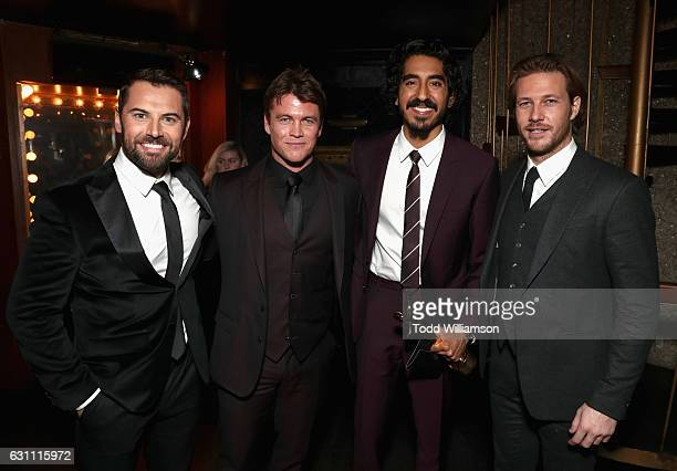 Actors Daniel MacPherson Luke Hemsworth Dev Patel and Luke Bracey attend The 6th AACTA International Awards on January 6 2017 in Los Angeles...