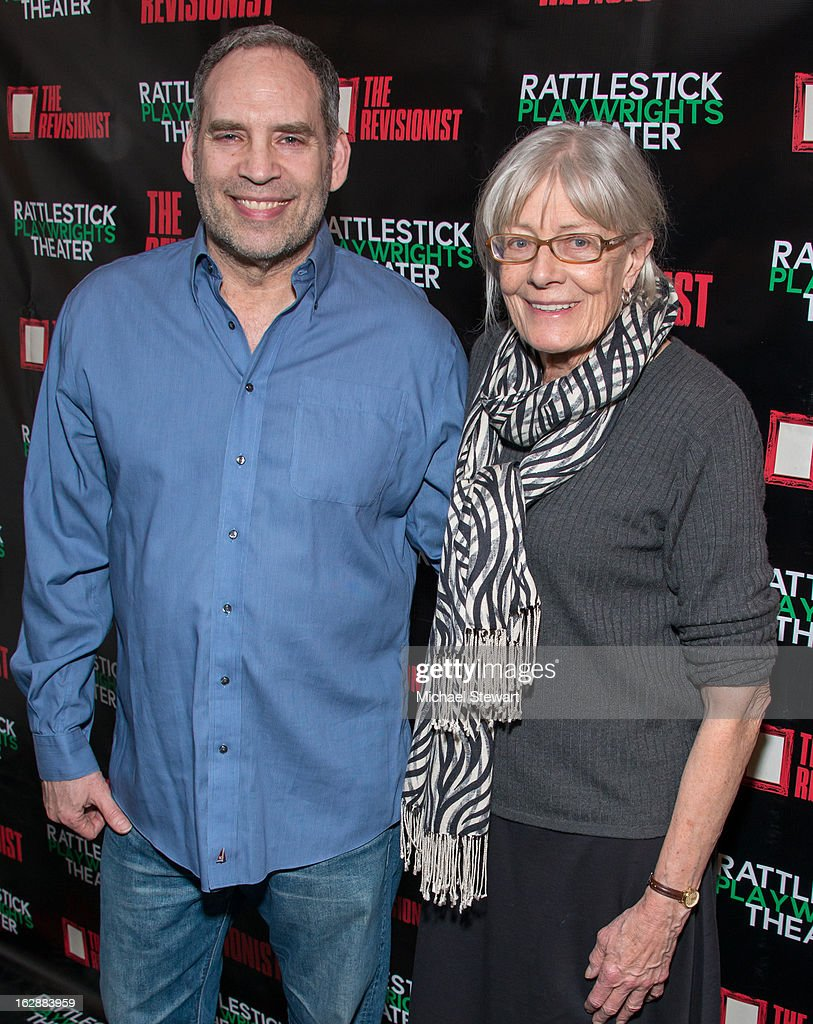 Actors Daniel Oreskes (L) and Vanessa Redgrave attend 'The Revisionist' Opening Night at Cherry Lane Theatre on February 28, 2013 in New York City.