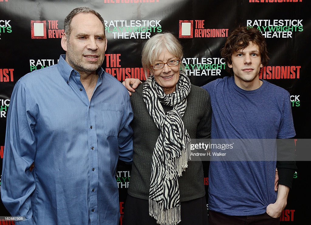 Actors Daniel Oreskes, Vanessa Redgrave and Jesse Eisenberg attend 'The Revisionist' opening night at Cherry Lane Theatre on February 28, 2013 in New York City.