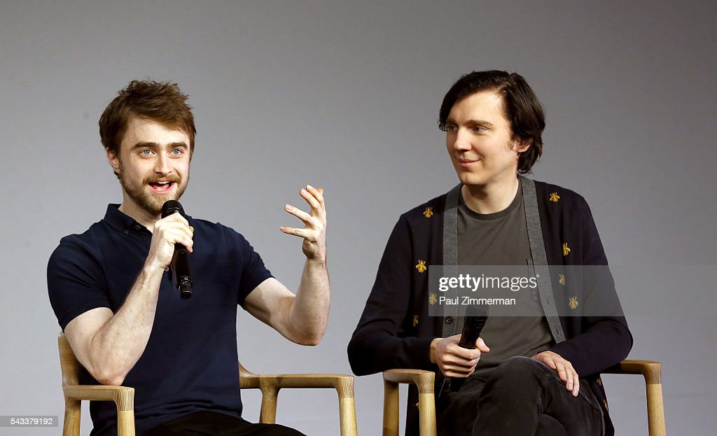 Actors <a gi-track='captionPersonalityLinkClicked' href=/galleries/search?phrase=Daniel+Radcliffe&family=editorial&specificpeople=204144 ng-click='$event.stopPropagation()'>Daniel Radcliffe</a> (L) and <a gi-track='captionPersonalityLinkClicked' href=/galleries/search?phrase=Paul+Dano&family=editorial&specificpeople=550442 ng-click='$event.stopPropagation()'>Paul Dano</a> attend The Apple Store Presents: <a gi-track='captionPersonalityLinkClicked' href=/galleries/search?phrase=Daniel+Radcliffe&family=editorial&specificpeople=204144 ng-click='$event.stopPropagation()'>Daniel Radcliffe</a> And <a gi-track='captionPersonalityLinkClicked' href=/galleries/search?phrase=Paul+Dano&family=editorial&specificpeople=550442 ng-click='$event.stopPropagation()'>Paul Dano</a>, 'Swiss Army Man' at Apple Store Soho on June 27, 2016 in New York City.