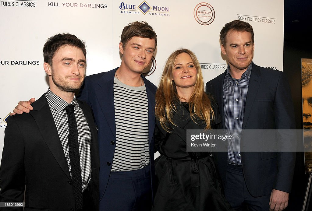 Actors Daniel Radcliffe, Dane DeHaan, Jennifer Jason Leigh and Michael C. Hall attend the premiere of Sony Pictures Classics' 'Kill Your Darlings' at Writers Guild Theater on October 3, 2013 in Beverly Hills, California.