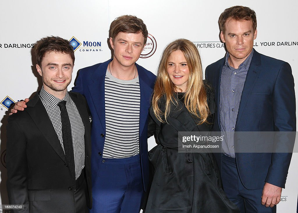 Actors Daniel Radcliffe, Dane DeHaan, Jennifer Jason Leigh, and Michael C. Hall attend the premiere of Sony Pictures Classics' 'Kill Your Darlings' at Writers Guild Theater on October 3, 2013 in Beverly Hills, California.