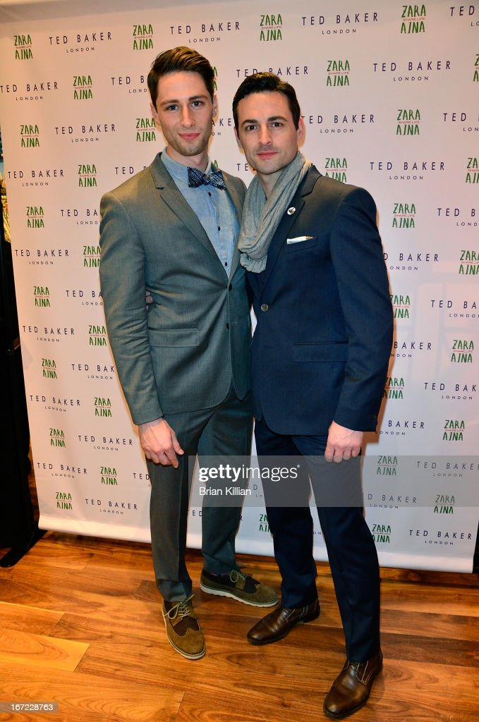Actors Daniel Rowan and Max von Essen attend the Zara Aina Foundation Benefit at Ted Baker on April 22, 2013 in New York City.