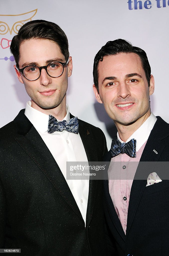 Actors Daniel Rowan and Max von Essen attend Tie The Knot NYC at Avenue on February 27, 2013 in New York City.