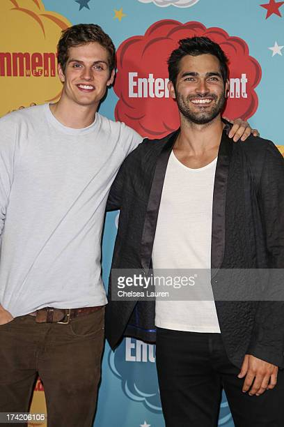 Actors Daniel Sharman and Tyler Hoechlin arrive at Entertainment Weekly's annual ComicCon celebration at Float at Hard Rock Hotel San Diego on July...