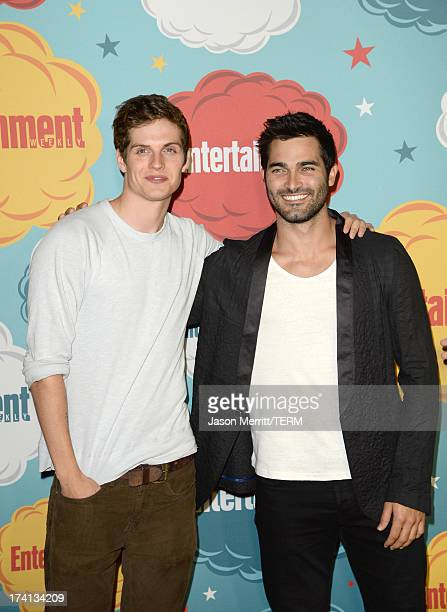 Actors Daniel Sharman and Tyler Hoechlin attend Entertainment Weekly's Annual ComicCon Celebration at Float at Hard Rock Hotel San Diego on July 20...