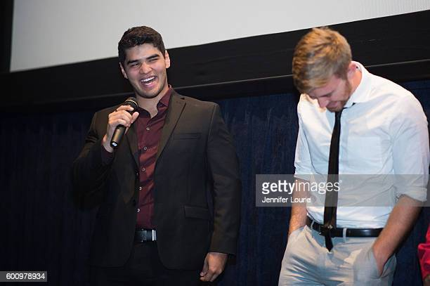 Actors Daniel Vasquez and Chandler Massey attend the Premiere of Vision Films' 'The Standoff' on September 8 2016 in Los Angeles California