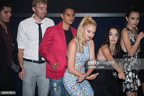 Actors Daniel Vasquez Chandler Massey Julian Works Audrey Whitby Veronica Merrell and Vanessa Merrell attends the Premiere of Vision Films' 'The...