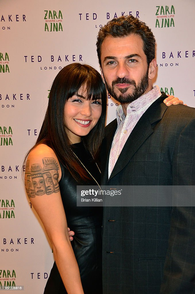 Actors Daniella Pineda and Michael Aronov attend the Zara Aina Foundation Benefit at Ted Baker on April 22, 2013 in New York City.