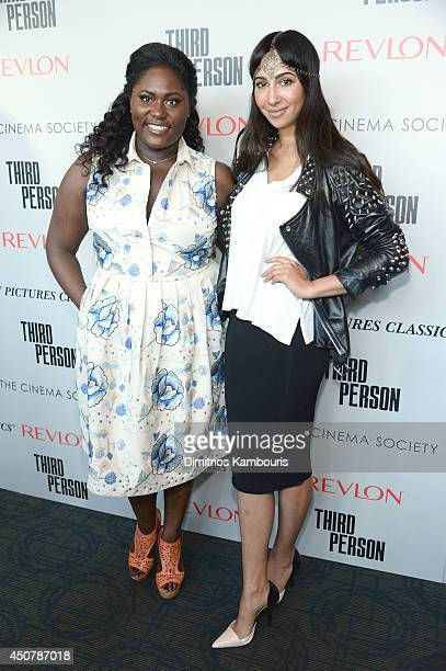Actors Danielle Brooks and Jackie Cruz attend Sony Pictures Classics' 'Third Person' screening hosted by The Cinema Society and Revlon at Landmark...