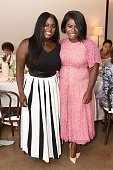Actors Danielle Brooks and Uzo Aduba attend a luncheon hosted by Glamour and Facebook to discuss the 2016 election at Samsung 837 in NYC on July 11...