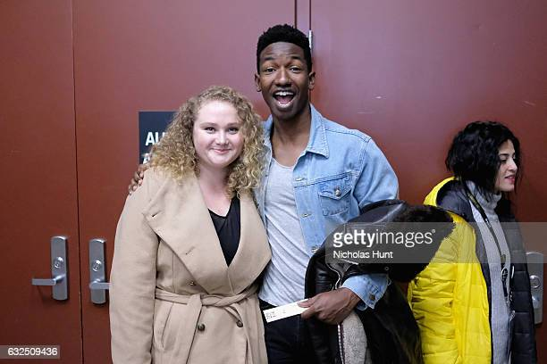 Actors Danielle Macdonald and Mamoudou Athie attends the 'Patti Cake$' Premiere 2017 Sundance Film Festival at Eccles Center Theatre on January 23...