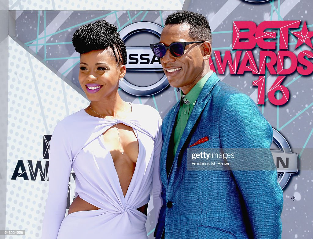 Actors Danielle Mone Truitt (L) and Orlando Jones attend the 2016 BET Awards at the Microsoft Theater on June 26, 2016 in Los Angeles, California.