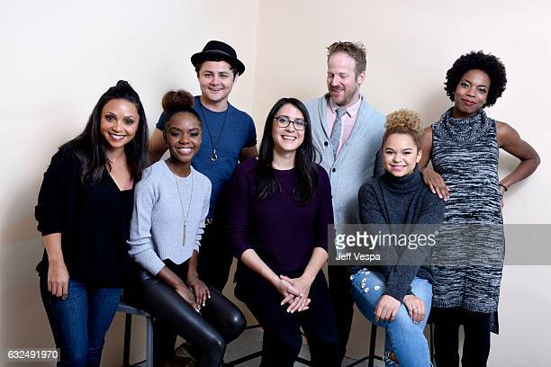 Actors Danielle Nicolet Ashleigh Murray Arturo Castro filmmaker Sydney Freeland actors David Sullivan Rachel Crow and Sasheer Zamata from the film...