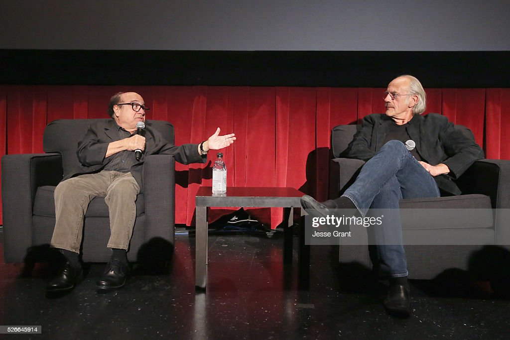 Actors Danny DeVito (L) and Christopher Lloyd speak onstage at 'One Flew Over the Cuckoo's Nest' screening during day 3 of the TCM Classic Film Festival 2016 on April 30, 2016 in Los Angeles, California. 25826_009