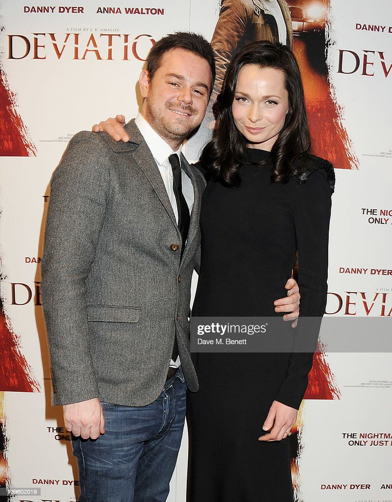 Actors Danny Dyer (L) and Anna Walton attend the World Premiere of 'Deviation' at Odeon Covent Garden on February 23, 2012 in London, England.
